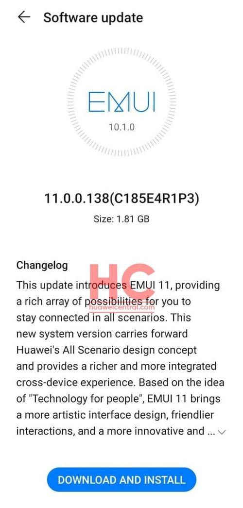 EMUI 11 dla Huawei P30 (Pro) / fot. Huawei Central