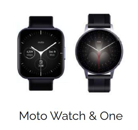Moto Watch i Moto Watch One / fot. Twitter Felipe Berhau