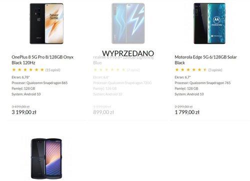 OnePlus 8 Pro i Motorola Edge w dobrej cenie/fot. x-kom