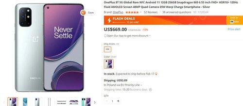 OnePlus 8T 12/256 GB w kapitalnej cenie