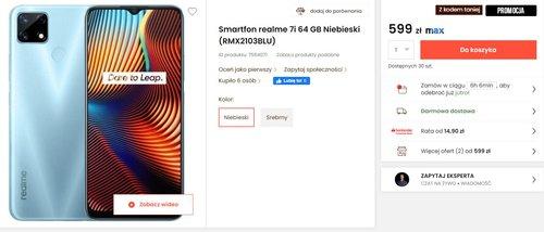Realme 7i to bardzo solidny telefon z dużą baterią - dzisiaj w promocji