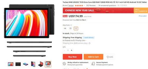 Teclast M40 to tani tablet z LTE i 6 GB RAM