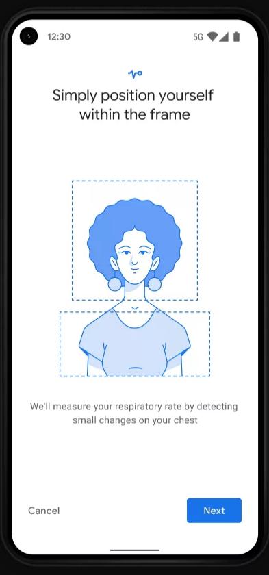 Google Pixel pomiar oddechu/ fot. engadget