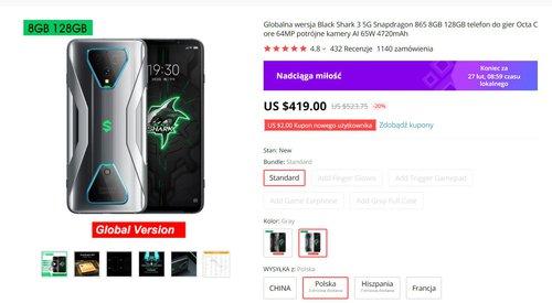 Black Shark 3 to najwydajniejszy Xiaomi, jakiego możesz kupić w Polsce