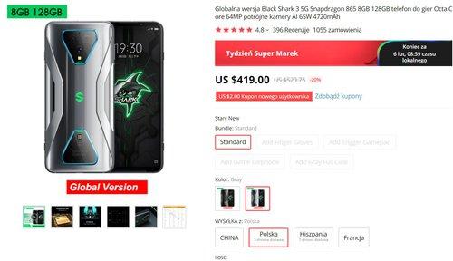 Xiaomi Black Shark 3 - самый мощный телефон по цене