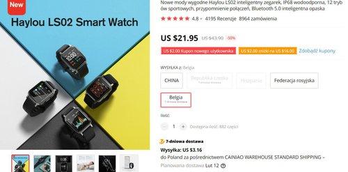 Xiaomi Haylou LS02 to bardzo tani smartwatch z IP68