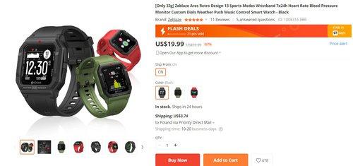 Zeblaze Ares Retro to jeden z najładniejszych tanich smartwatchy
