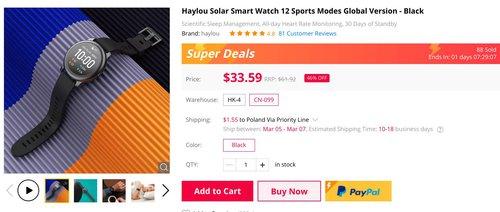 haylou solar promocja