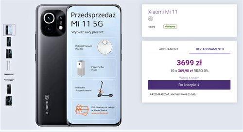 Xiaomi Mi 11 jest dostępny w sklepie Play bez umowy
