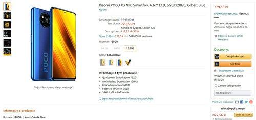 Promocyjna cena Xiaomi POCO X3 NFC na polskim Amazonie