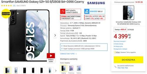 Promocyjna cena Galaxy S21+ w Media Expert