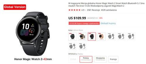 Honor Magic Watch 2 42 mm w dobrej cenie