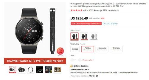 Huawei Watch GT2 Pro doczekał się kapitalnej promocji