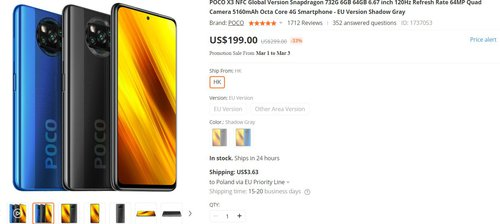 POCO X3 NFC w dobrej cenie w promocji