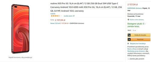 Realme X50 Pro w dobrej cenie w mocniejszej wersji