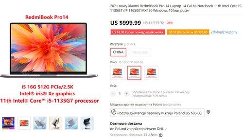RedmiBook 14 Pro to najciekawszy laptop od Xiaomi w 2021 roku