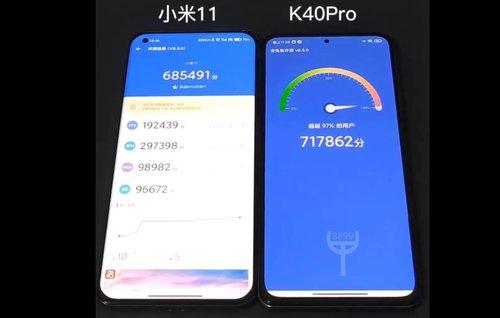 Xiaomi Mi 11 i Redmi K40 Pro w teście wydajności/fot.  TC8899