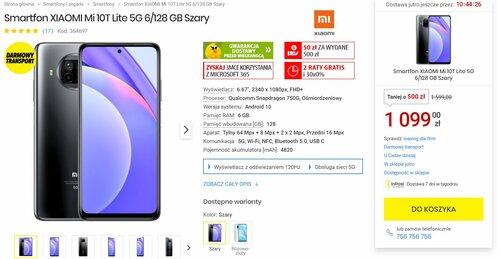 Promocja na Xiaomi Mi 10T Lite