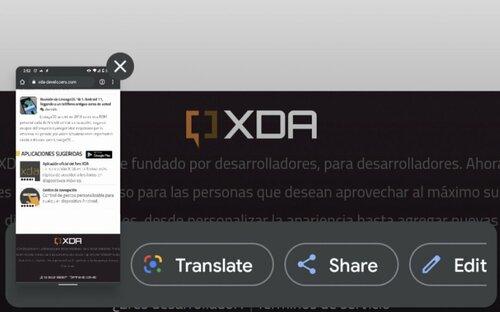 Tłumaczenie zrzutów ekranu Android