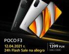 Wystartowało: promocyjna cena Xiaomi POCO F3 w Polsce MIAŻDŻY! Kup go, póki możesz
