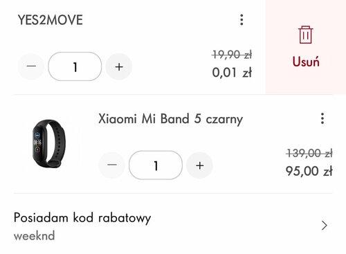 Promocyjna cena Xiaomi Mi Smart Band 5