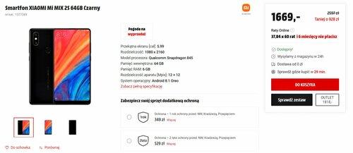 Cena Xiaomi Mi Mix 2S w 2021 roku