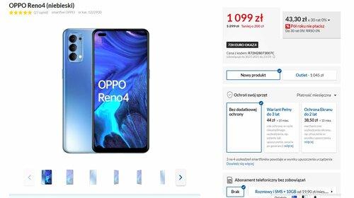 Promocyjna cena OPPO Reno 4