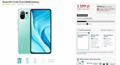 Promocyjna cena Xiaomi Mi 11 Lite 5G w RTV Euro AGD