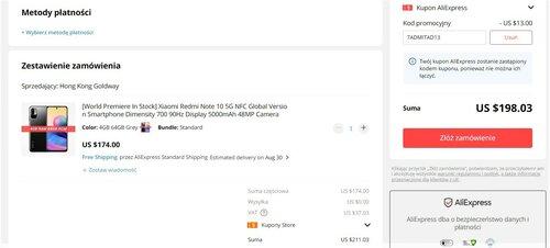 promocyjna cena Xiaomi Redmi Note 10 5G