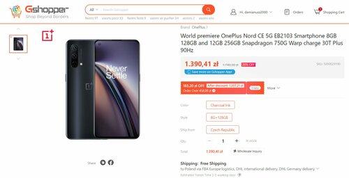 Promocyjna cena OnePlus Nord CE 5G