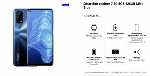Aktualna cena realme 7 5G