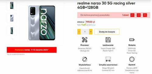 Promocyjna cena realme narzo 30 5G