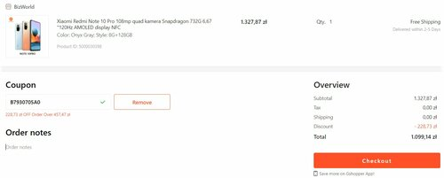 Promocyjna cena Xiaomi Redmi Note 10 Pro