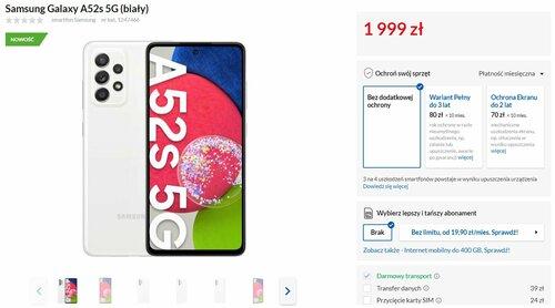 Samsung Galaxy A52s 5G dostępny w RTV Euro AGD (cena)