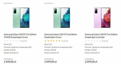 Samsung Galaxy S20 FE (G780G) w promocji