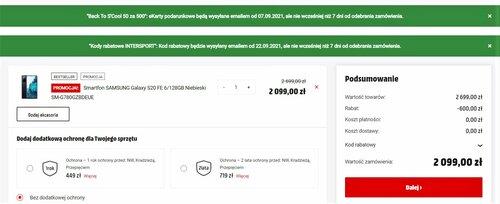 Samsung Galaxy S20 FE — promocyjna cena
