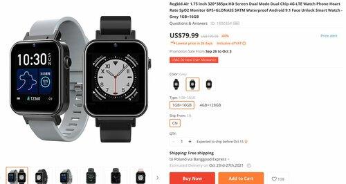 smartwatch z LTE