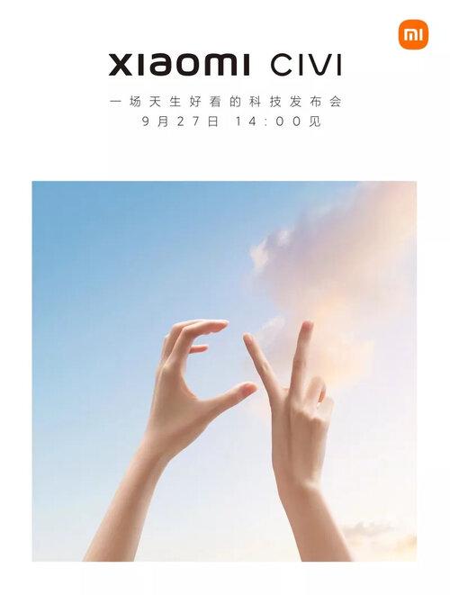Zapowiedź premiery Xiaomi Civi