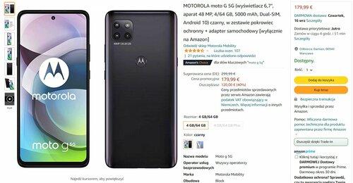 Motorola Moto G 5G w promocji niemieckiego Amazonu