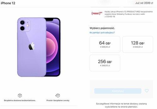 Nowe ceny Apple iPhone 12