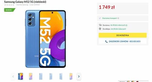 Samsung Galaxy M52 5G w RTV Euro AGD