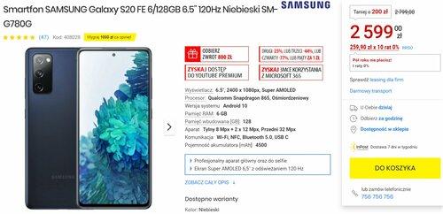 Promocyjna cena Samsung Galaxy S20 FE