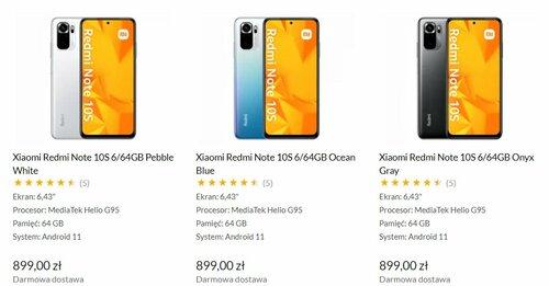 Cena Xiaomi Redmi Note 10s