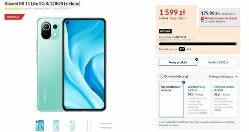 Promocyjna cena Xiaomi Mi 11 Lite 5G