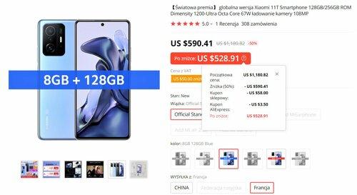 Promocyjna cena Xiaomi 11T