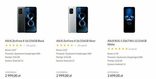 Promocyjna cena ASUS ZenFone 8