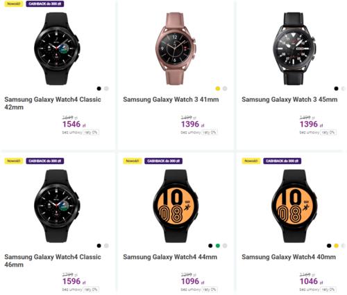Promocyjne ceny zegarków Samsung Galaxy Watch 4