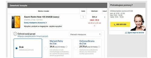 Promocyjna cena Xiaomi Redmi Note 10S
