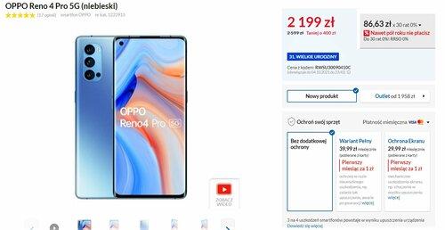 Promocyjna cena OPPO Reno 4 Pro 5G