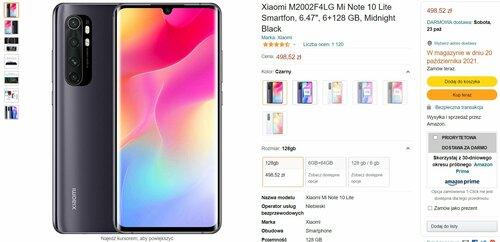 Zaskakująca promocja na Xiaomi Mi Note 10 Lite